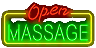 cbd massage open neon sign